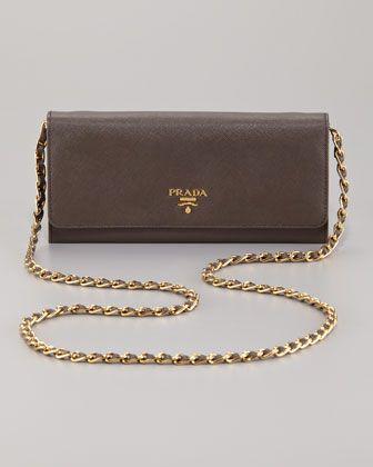 prada saffiano metal oro travel wallet