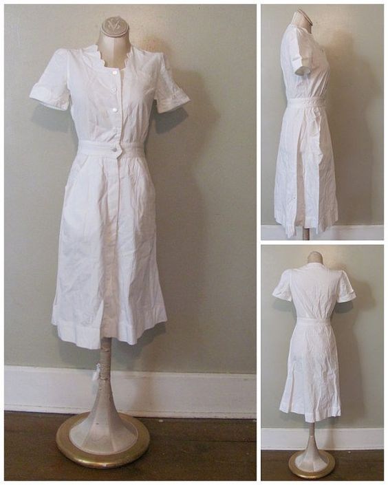 White Nursing Uniform Dresses 9