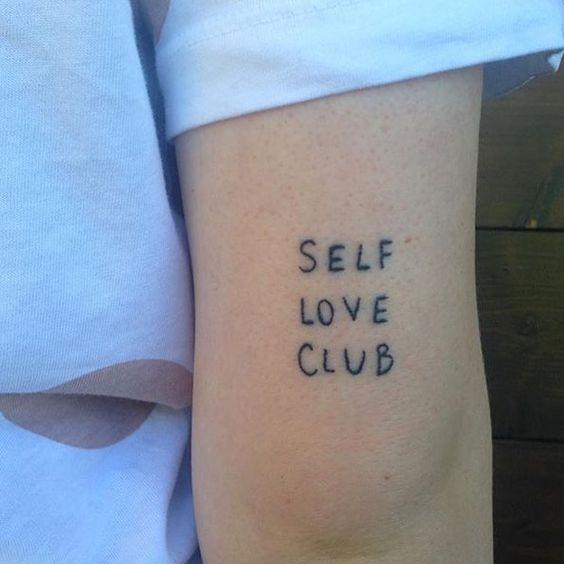 Iamcharlieeking sporting their club tattoo club rules you for Self love tattoos
