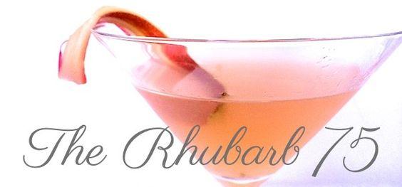 Rhubarb 75- Gin, rhubarb simple syrup, lemon & soda