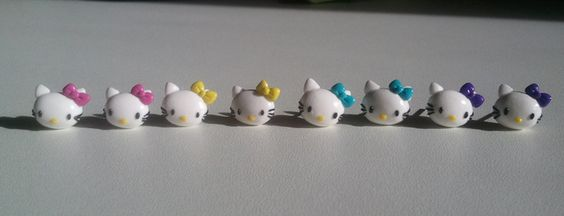 Boucle d'oreille puce Petit chat Kitty 's FIMO