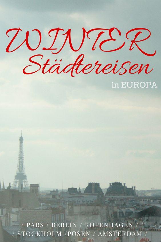 WINTER Städtereisen - Die 6 schönsten Städte in Europa im Winter.