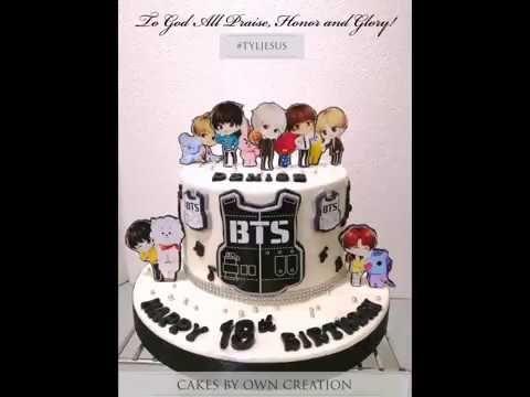 Bts Cakes Youtube Bts Cake Bts Birthdays Cupcake Birthday Party