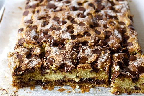 Chocolate Chip Sour Cream Coffee Cake Recipe Sour Cream Coffee Cake Coffee Cake Recipes Chocolate Cake With Coffee