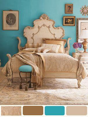 decorating bedroom ideas turquoise paint color scheme