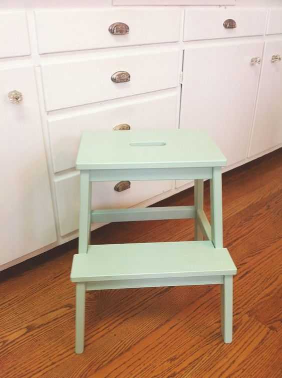 Painted ikea bekvam step stool ikea bekvam pinterest for Ikea jambes extensibles