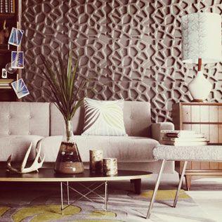 wall paper 3D- en area residencial  Disponible en Alta Cucine - David