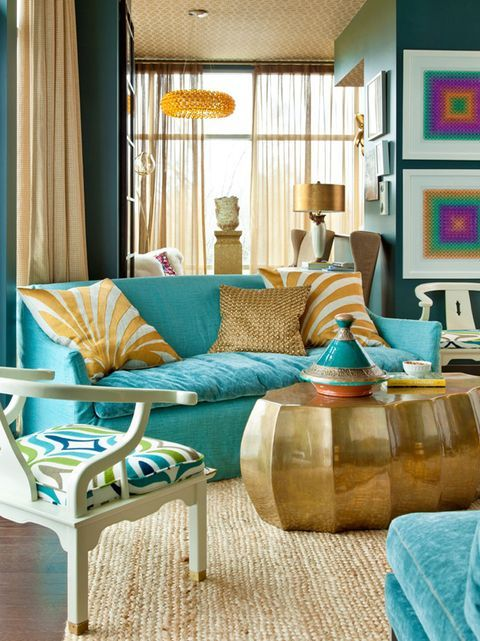 10 Rooms That Made Great Use Of Teal Paint In 2021 Turquoise Living Room Decor Teal Living Rooms Living Room Turquoise