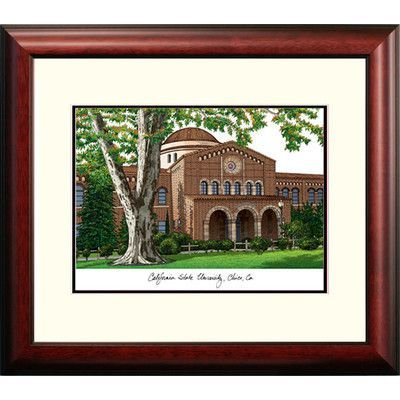 Campus Images NCAA California State University, Chico Alumnus Lithograph Framed Photographic Print