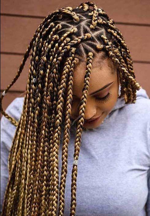 21++ Blonde brown and black box braids ideas in 2021