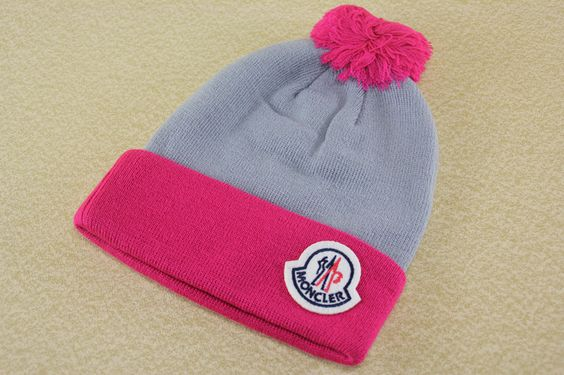 Grey/Rose knitted hat