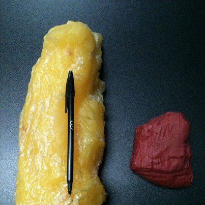 5 lbs of fat vs. 5 lbs of muscle.  Any questions?