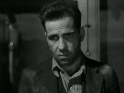 A grumpy Humphrey Bogart don't like no back talk. The Petrified Forest. via SilverScreenings.org