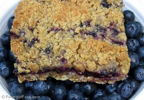 Blueberry breakfast bar