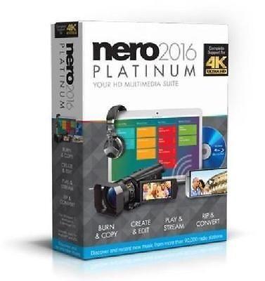 New Nero 2016 Platinum 4K Ultra HD Audio Video Multimedia Suite BURN PLAY STREAM - http://electronics.goshoppins.com/software/new-nero-2016-platinum-4k-ultra-hd-audio-video-multimedia-suite-burn-play-stream/
