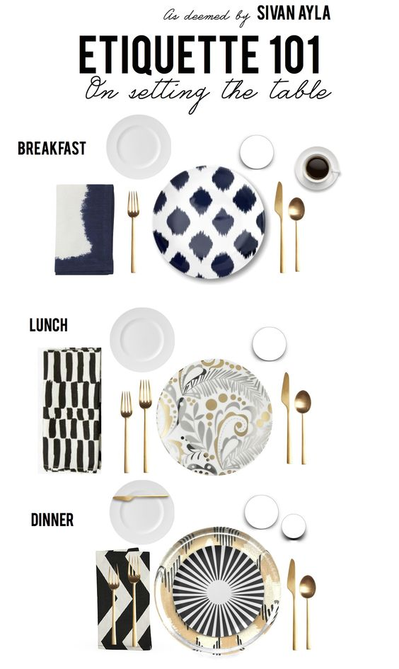 How to PROPERLY set the table. With a spoon, always with a spoon - it's not optional!