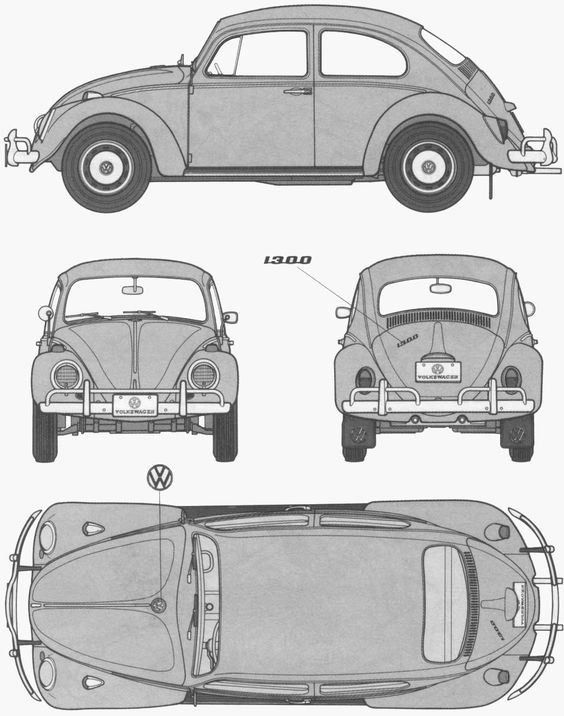 Coloriage à imprimer : Véhicules - Voiture - Volkswagen numéro 105391