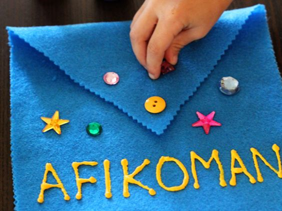 Cute and easy way for the kids to get involved on Passover - by decorating the Afikoman bag