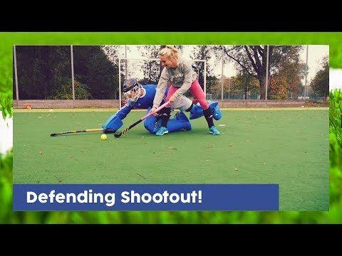 Defending Shootout Goalkeeper Technique Hockeyheroestv Youtube Goalkeeper Hockey Training Field Hockey Goalie