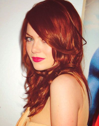 I wish I could go this red! At least I can go for this haircut.