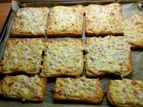 Flammkuchen-Toast   Brote & Kanapees Rezept auf Kochrezepte.de von…