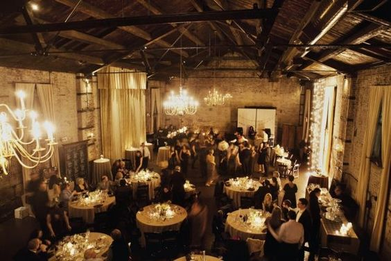 Not fair: New York has so many really cool warehouse/rustic/industrial venues. This one is killer! Great use of lighting!