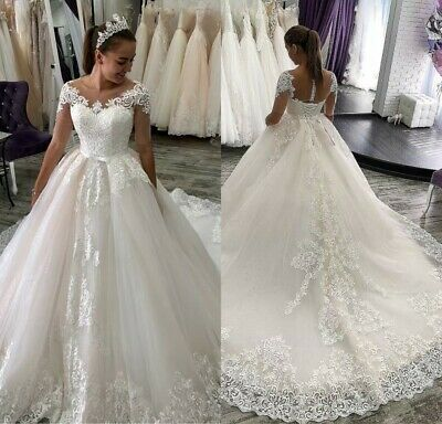 Ad Ebay Wedding Dresses Bridal Gowns Long Sleeves Appliques Lace