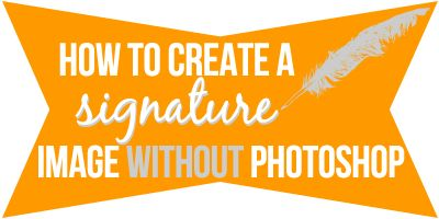 How to Make a Signature Image in GIMP