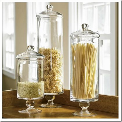 Apothecary jars apothecaries and jars on pinterest for Kitchen jar decoration