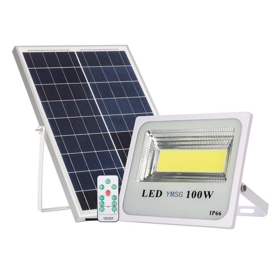 100W Solar Powered Street Flood Lights Outdoor Remote Control Security Light