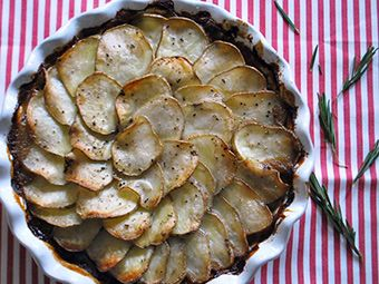 Beef pot pie with potatoe topping - sounds like a great freezer meal!
