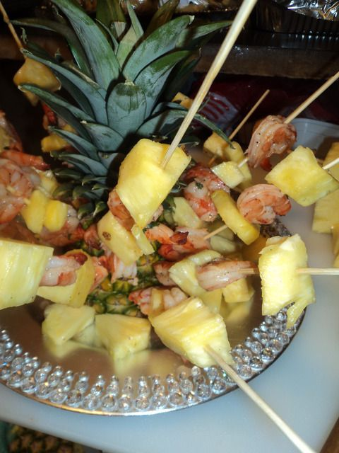 Pineapple Shrimp Skewer