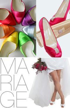 personnalisation chaussures de mariage de couleur