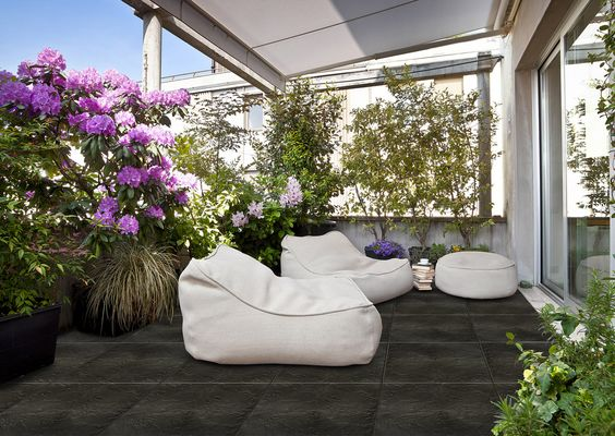 nortene blacknite dalles de terrasse imitation ardoise