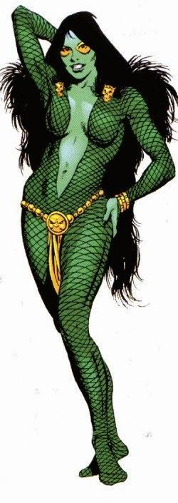 """No it's not a giant atomically mutated turtle. It's the """"Deadliest Women in the Galaxy"""", Thano's adopted daughter, Gamora."""