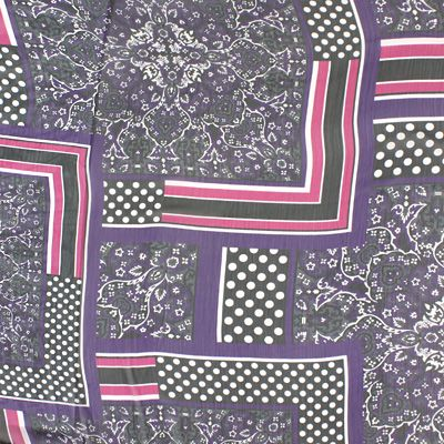 Georgette Art Deko Dots - Polyester - violett