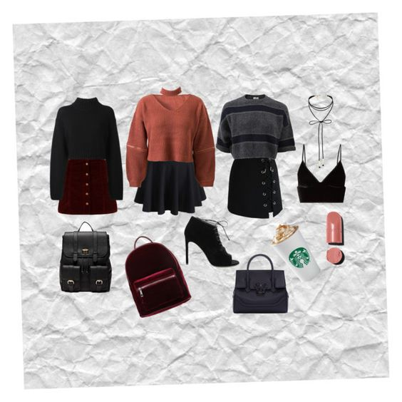 """""""Fall ING in love with this look😍"""" by oneaa on Polyvore featuring mode, Chanel, WithChic, Chicwish, T By Alexander Wang, DKNY, Brunello Cucinelli, even&odd, Versace en Sole Society"""