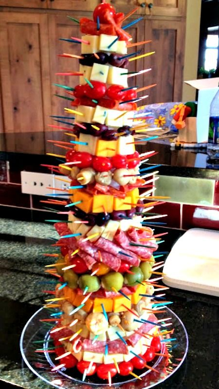 Pinterest the world s catalog of ideas - Christmas tree shaped appetizers ...