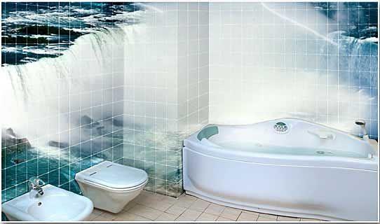 Backsplash tile wall mural bathroom design honey for Bathroom tile mural