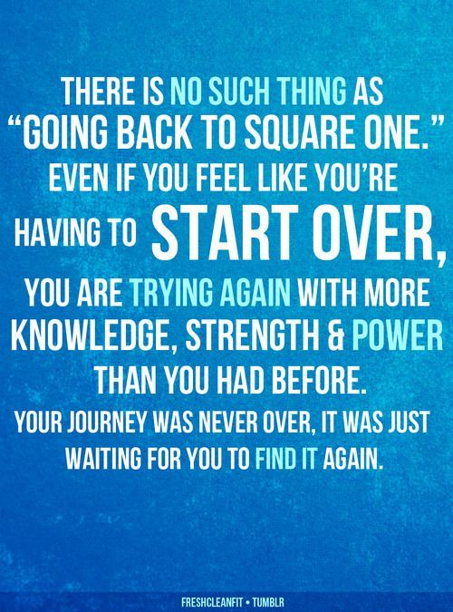 Going back to square one