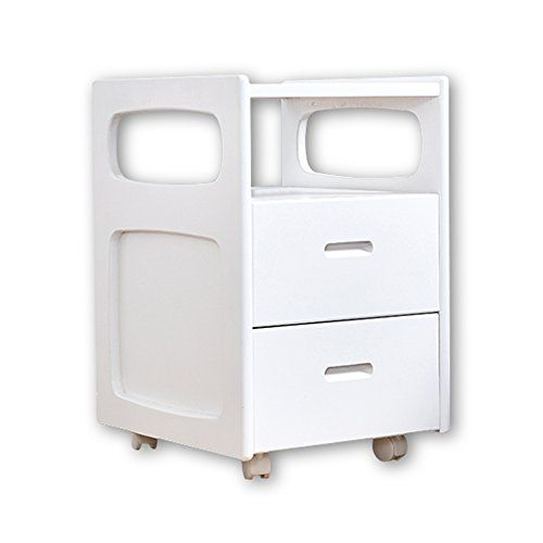 Fly Solid Wood Bedside Cabinets Pine Storage Storage White Cabinet