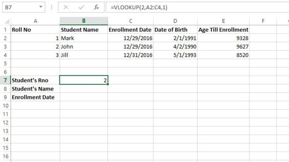 use vlookup function in excel