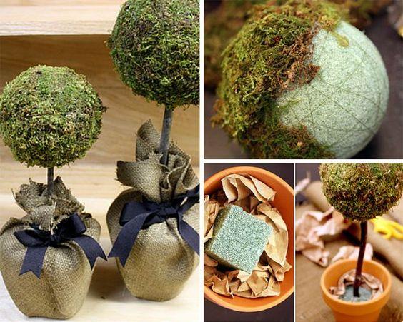 DIY Pottery Barn Craft Ideas | Homemade Topiaries by DIY Ready at http://diyready.com/diy-projects-pottery-barn-hacks