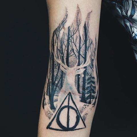 This Is Beautiful Harrypottertattoos Harry Potter Tattoo Sleeve Harry Potter Tattoos Stag Tattoo