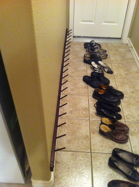 shoe rack DIY: