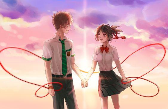 Kimi no na wa   Anime   Pinterest   Anime, Manga and Manga couple