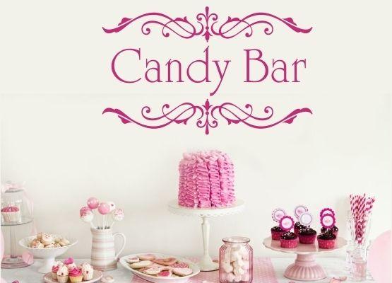 Wandtattoo Hochzeit Candy Bar Ornament von FleurDeLis-Wandtattoo auf DaWanda.com