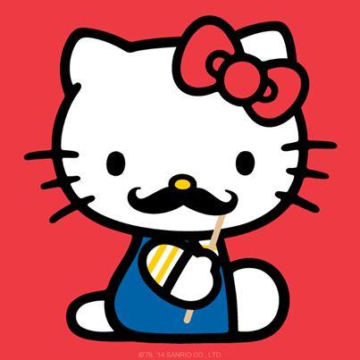 HK |❣| HELLO KITTY Mustache Graphic