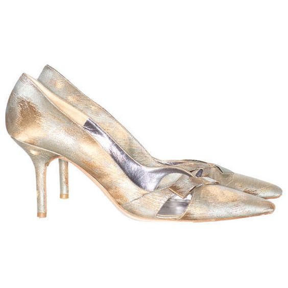 Pre-owned 1960s Valentino Garavani Silk Shoes ($450) ❤ liked on Polyvore