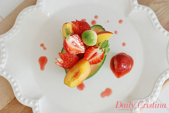 Salada de fruta com abacate